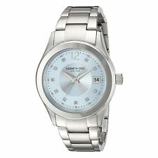 Kenneth Cole 10030803 Women's Silver Dial Steel Bracelet Watch