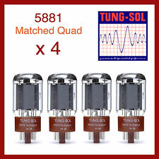Tung-Sol 5881 New Production Power Vacuum Tube - Matched Quad - 4 Pieces