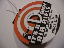 Daisy BB Gun -500 Shot ,No. 102 Model 36 Air Rifle Hang Tag -Repro - Plymouth MI