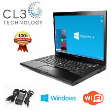 Dell Latitude Laptop Computer Core 2 Duo 15' LCD 4GB DVD Windows 10 Pro HD