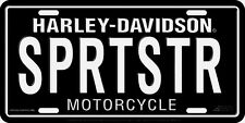 Harley Davidson SPRTSTR Sportster Embossed Metal Vanity License Plate Car Tag
