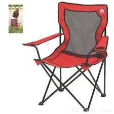 Outdoor Quad Chair Coleman BroadbandTM Camping Hiking Furniture Carry Bag New