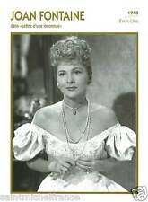 1.JOAN FONTAINE ACTRICE ACTRESS FICHE CINEMA USA 90s