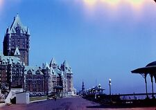 Slide 1950's Chateau Frontenac Quebec City Canada Cool Lighting Effect Sky