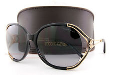 Brand New Roberto Cavalli Sunglasses RC 669S 01B Black/Grey Gradient For Women