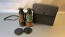 Antique Brass Binoculars Jumelle Paris, Opera, GC with case
