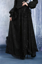 Dark in Love Elegant Floral Lace Long Black Skirt Gothic Victorian KW042