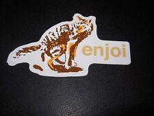 """ENJOI Skate Dog Poop #3 Sticker 4X2.25"""" great for skateboards helmets decal"""