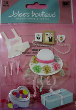 NEW 10 pc WEDDING SHOWER Gifts Presents Bow Bouquet Lingerie JOLEE'S 3D Stickers