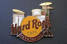 HRC Hard Rock Cafe Reykjavik Drum Set Old Style Brown Name  FC Parry XL Fotos