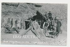 1893 CRIPPLE CREEK COLORADO CO GOLD KING MINE MINERS PROSPECTORS REAL PHOTO RPPC