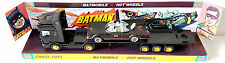 HOT WHEELS Batman 1:64 Matte BATMOBILE & Flatbed Truck on Custom Corgi Display