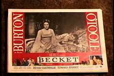 BECKET 1964 LOBBY CARD #2 RICHARD BURTON PETER OTOOLE