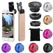 3 in1 Lens Kit  Universal Cell Phone Clip-on Wide Angle Fish Eye Macro Camera