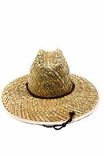 Easy Gardener MS0003 Mens Straw Hat Flat Weave w/ Chin Cord, One Size