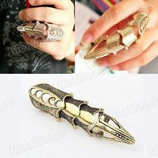 Cool Gothic Punk Style Ring Bronzy Long Claw Armor Finger Rock New Vintage Nail