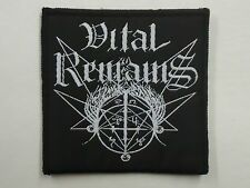 VITAL REMAINS DEATH METAL WOVEN PATCH