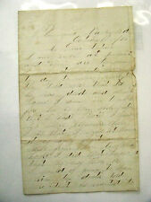 PENNSYLVANIA CIVIL WAR SOLDIER LETTER- OUR  BROTHER IS DEAD