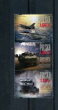 Poland Polska 2013 MNH Modern Polish Army 3v Strip Tanks Ships Airplanes