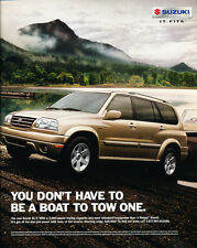 2001 Suzuki XL-7 - boat - Classic Car Advertisement Print Ad J86