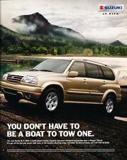 2001 Suzuki XL-7 - boat - Classic Car Advertisement Print Ad J86
