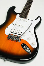 FENDER SQUIER BULLET FAT STRAT STRATOCASTER BROWN SUNBURST ELECTRIC GUITAR ~ NEW