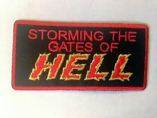 Iron On/ Sew On Embroidered Patch Badge Gates of Hell Storming The Gates