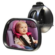 Back Seat Rear View Mirror/Baby Safety/Convex Glass/Suction Cup Window Attach