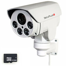 CCTV 1080P Mini Outdoor IR Bullet IP PTZ Camera 10x zoom POE 2M HD 8GB Built-in