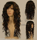 New Long Brown curly Miss Fashion wigs Human-made hair wigs