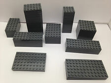 LEGO - 10 PIECES PER ORDER ONLY - NEW Dark GREY Base Plates In Different Sizes