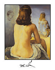 """Contemplating an Invisible Mirror"" by Salvador Dali - Fine Art Print 28 x 22"