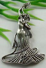 Wholesale free ship 30pcs tibet silver goddess charms 68x41mm