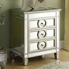 Mirrored 3 Drawer Accent Table Hallway Night Stand Living Room Furniture