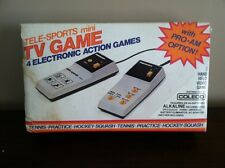 Coleco Tele-Sports Mini TV Game / 4 Electronic Action Games (1977) Mib Look Wow!
