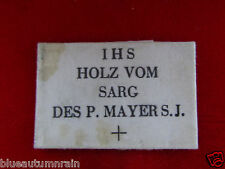 † HTS PRIESTS WWI CHAPLIAN RUPERT MAYER  RELIC RELIQUARY PAPER SEALED ENVELOPE †