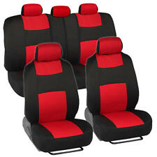 Car Seat Covers for Nissan Versa 2 Tone Red & Black w/ Split Bench
