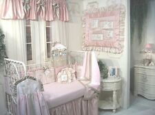 "NEW JESSICA McCLINTOCK BABY ""CHERISH"" ANGELS 7 PC CRIB NURSERY BED SET W/ MOBILE"