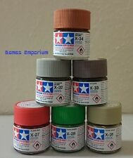 6 x Tamiya Acrylic Paints (10ml)  - X and XF range - Choose Your Colours