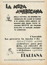 Y0746 ANSALDO - La 6 cilindri italiana - Pubblicità 1927 - Advertising