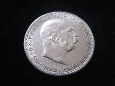 """MDS ÖSTERREICH HABSBURG 1 KRONE 1915 """"FRANZ JOSEPH I."""", SILBER   #26"""