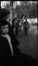 Soldat parade défilé Grande Guerre mondiale Première WW1 - Négatif photo ancien