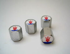 Maserati Tire Valve Stem Caps Aluminum Set Of Four