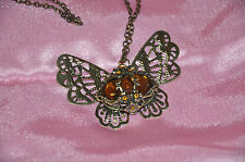 Fashion Jewelery Sweet Style Elegant Rhinestone Inlaid Butterfly Pendant Chain