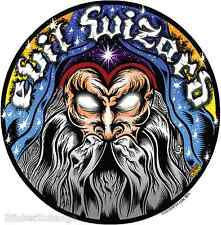 Evil Wizard Sticker Decal Dirty Donny DD45