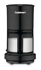 Cuisinart DCC-450BK 4-Cup Coffeemaker with Stainless-Steel Carafe, Black, New.