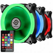 New Design PC Fan 120mm 25T 6 Pin Hydro Bearing RGB LED 2 packs  with Remote Kit