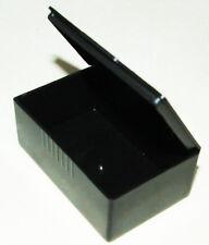 """2 pcs Small Black Tool Box Plastic Storage, Earplugs Case, Pill Box 2.5"""" x 1.5"""""""