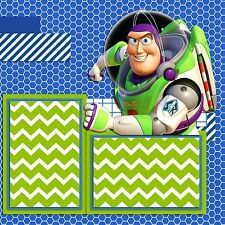 Premade - Double Page - Scrapbook Layouts - Buzz Lightyear - Toy Story - 961