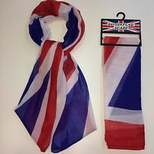 Union Jack Flag Scarf, Great For Sports Fans, Unisex, Lightweight, Easy To Store